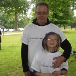 Team Basire with Charlotte, aged 10